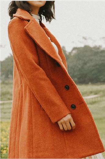Combo áo dạ dáng dài kết hợp mũ nồi và khăn len