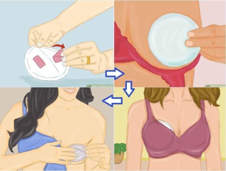 Hướng dẫn cách dùng miếng lót thấm sữa 1 lần