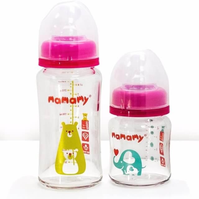 Bình sữa thủy tinh Mamamy ngày càng được ưa chuộng hơn
