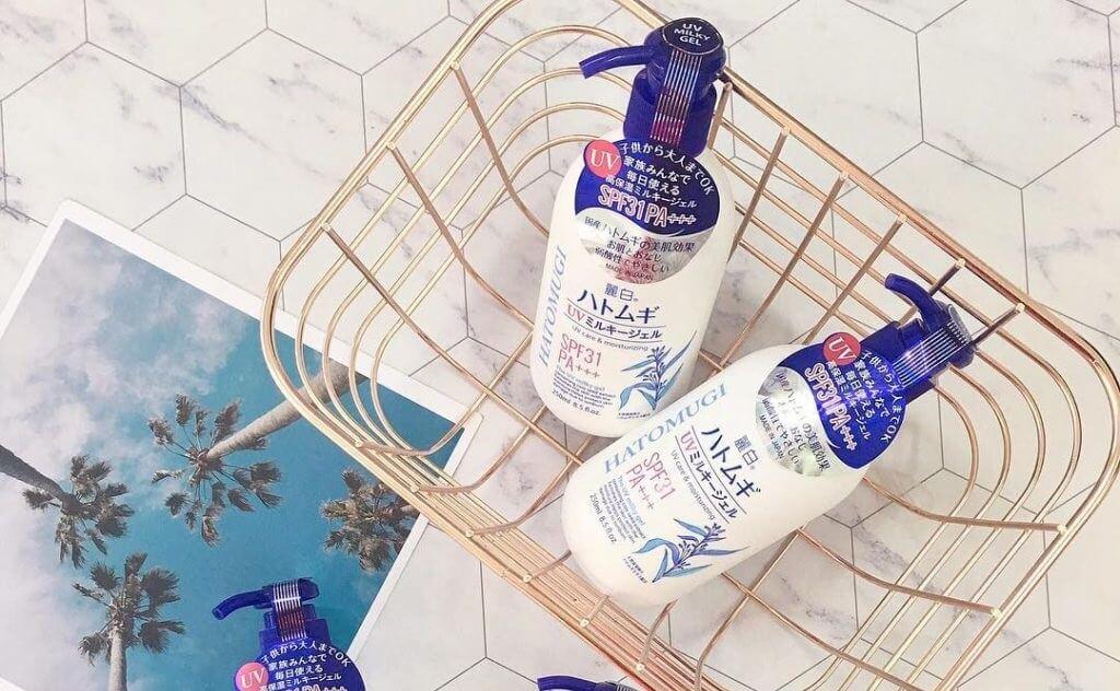 Sữa dưỡng thể trắng da Hatomugi giúp làm trắng da