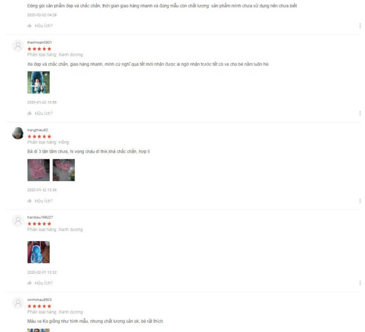 Đánh giá tích cực của khách hàng về ghế rung Hanbei trên Shopee