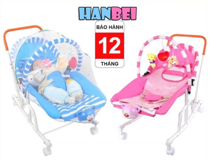 Ghế rung Hanbei đa năng được lòng của nhiều phụ huynh