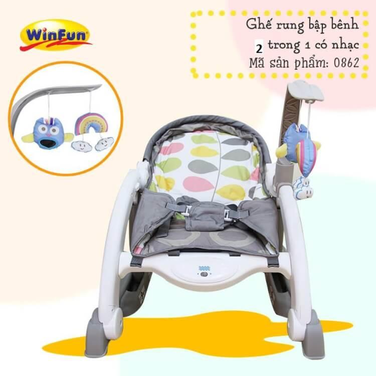 Ghế rung Winfun phát nhạc thiết kế đẹp và tốt cho bé