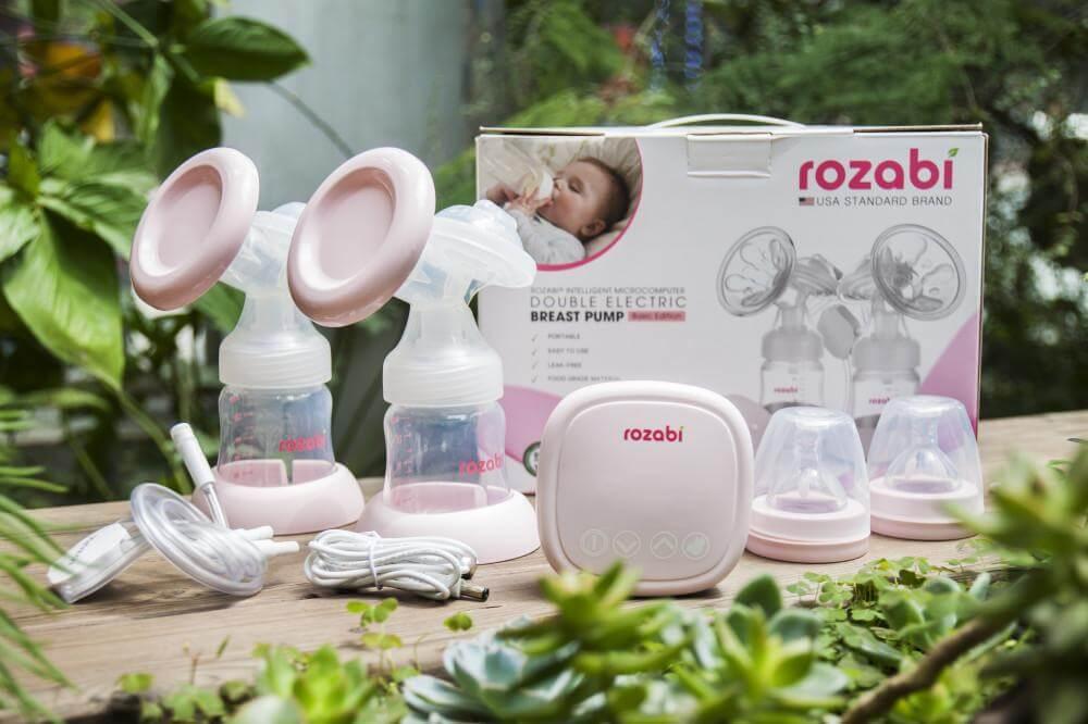 Máy hút sữa điện đôi Rozabi Compact