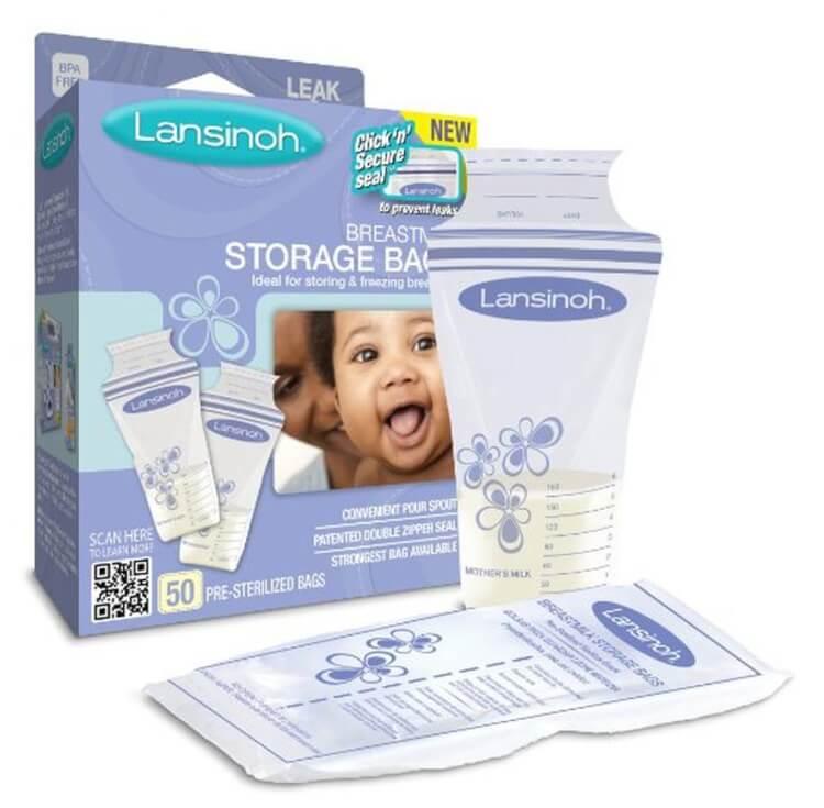 Túi trữ sữa Lansinoh với thiết kế mới lạ