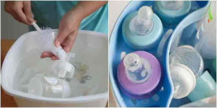 Mẹ nhớ vệ sinh phụ kiện máy hút sữa sạch sẽ và thường xuyên