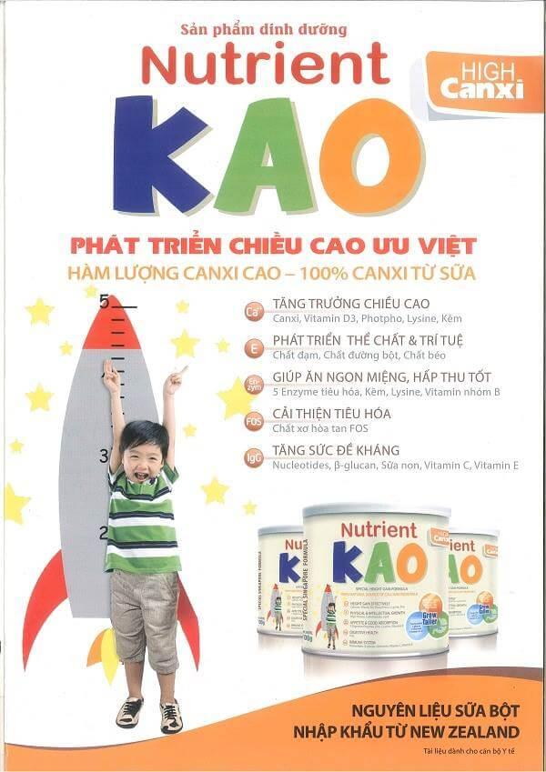 Nutrient KAO là sữa cho bé 4 tuổi tốt nhất? Bé cao lớn, khỏe mạnh hơn!