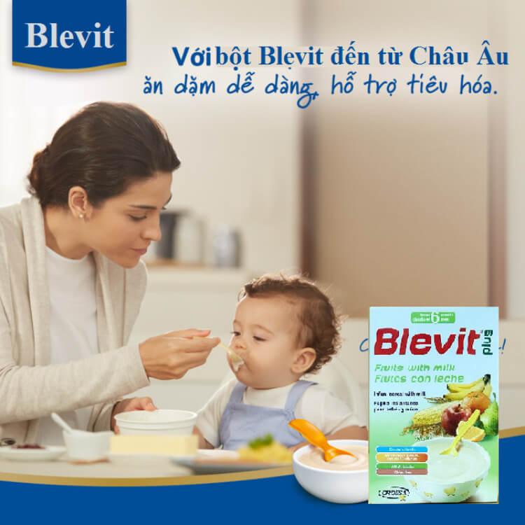 Ăn dặm dễ dàng và tiêu hóa tốt hơn với bột ăn dặm Blevit Plus