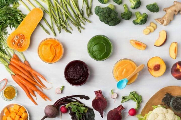 Các loại rau củ quả tốt cho bé khi tập ăn dặm