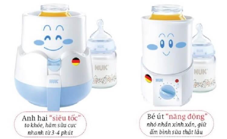 Máy hâm sữa Nuk thuận tiện, giúp mẹ chăm sóc bé tốt hơn
