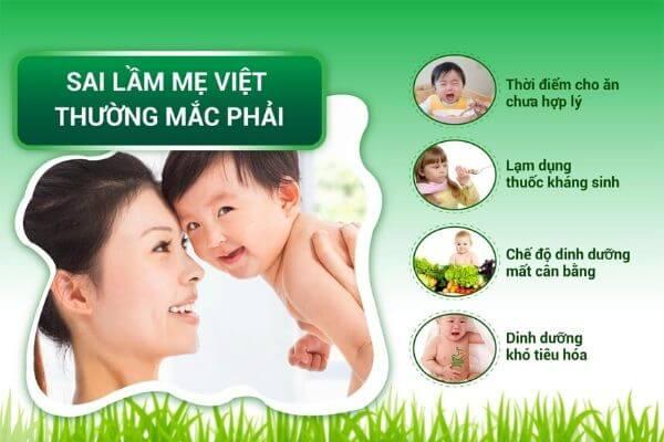 Một số nguyên nhân khiến hệ tiêu hóa của bé hoạt động kém