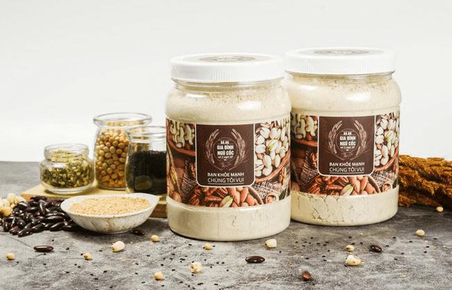 Bột ngũ cốc lợi sữa Bà An được mix từ 20 loại hạt giàu giá trị dinh dưỡng