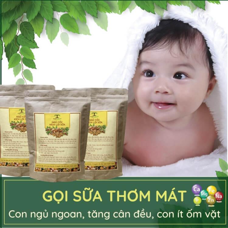 Ngũ cốc lợi sữa Queen Natural được mix từ 30 loại hạt với hương vị thơm ngon, hợp khẩu vị của người Việt