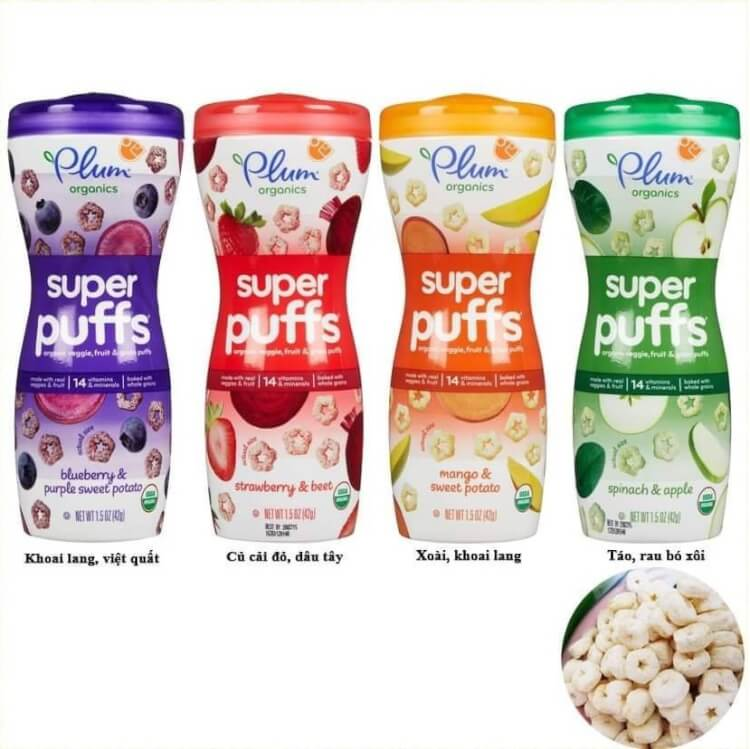 Bánh ăn dặm Plum thành phần hữu cơ từ tự nhiên, an toàn cho bé