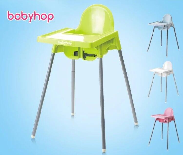 Ghế ăn dặm Glosby Babyhop thiết kế đơn giản mà chắc chắn
