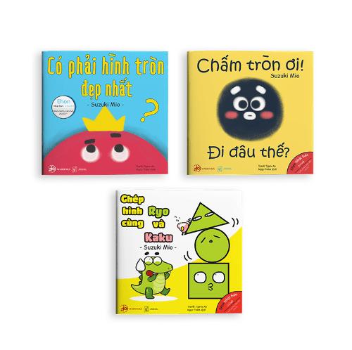 Bộ 3 cuốn Ehon hình khối