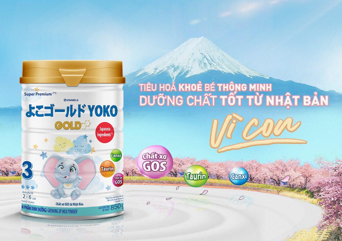 Yoko Gold hỗ trợ tiêu hóa và phát triển não bộ
