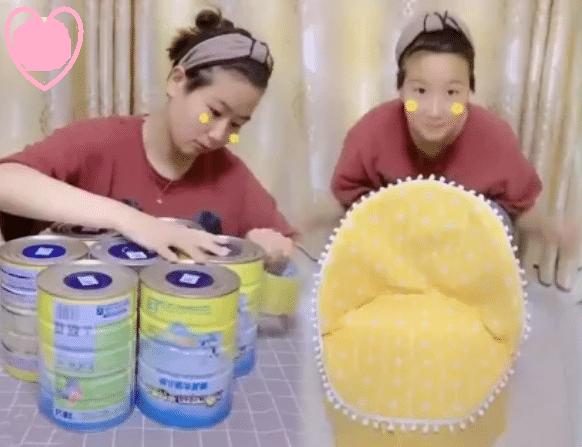Ghế ngồi độc đáo cho bé từ vỏ hộp sữa