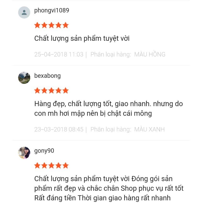 Phản hồi của người mua ghế tập ngồi Summer Infant trên Shopee
