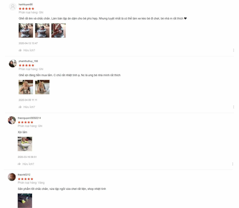 """Review của người mua về chiếc ghế tập ngồi Bonbebe đa năng và """"xịn xò"""""""