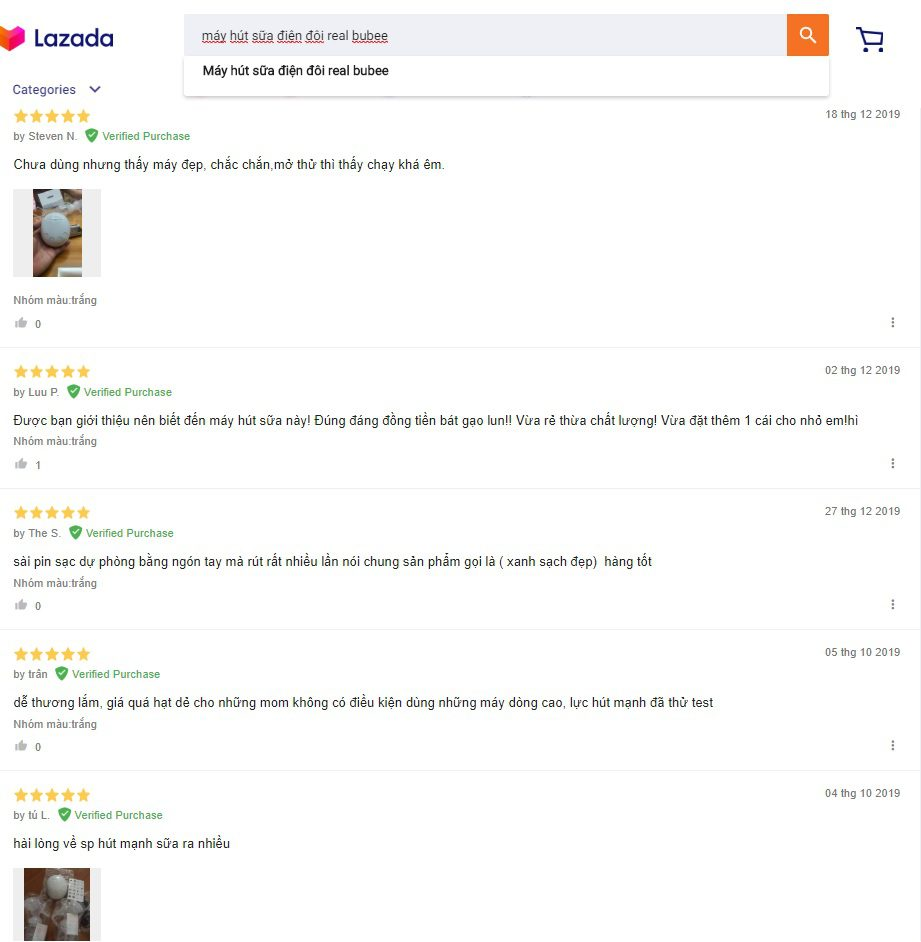 Review về máy hút sữa điện đơi Real Bubee trên Lazada