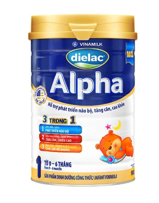 Sữa Dielac Alpha hỗ trợ tăng cân tốt