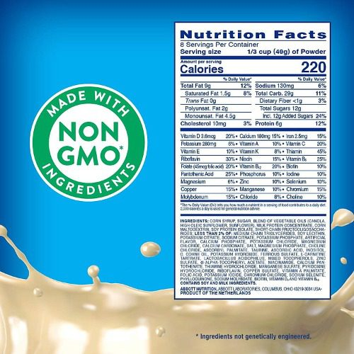 Thành phần công khai của sữa Pediasure Mỹ