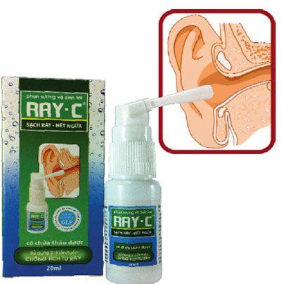 Cách dùng thuốc nhỏ ráy tai Ray C
