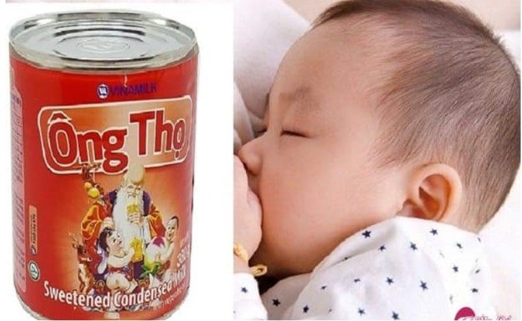 Trẻ sơ sinh không nên uống sữa ông thọ