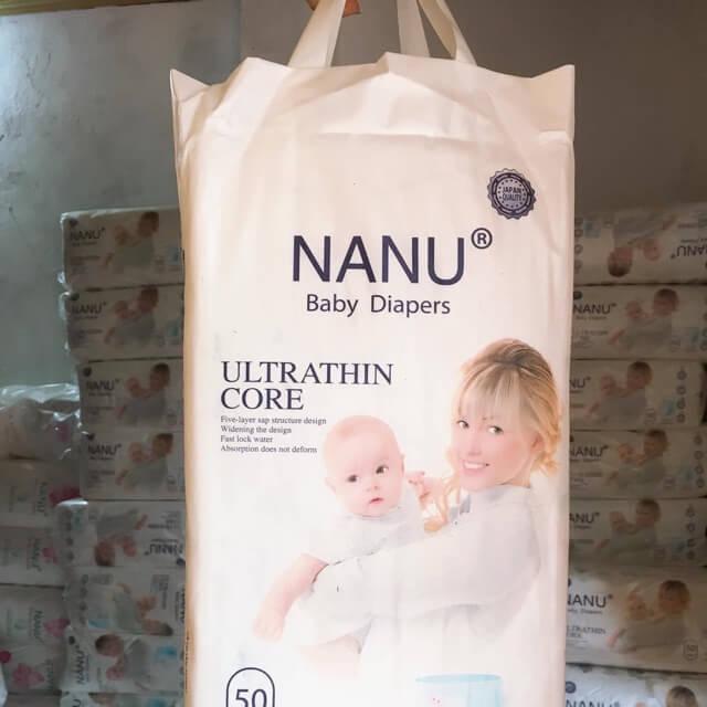 Bỉm Nanu baby sản xuất theo công nghệ Nhật Bản