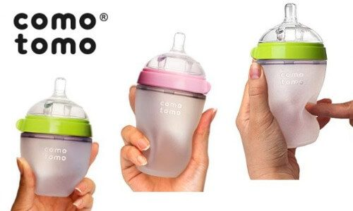 Bình sữa Comotomo mềm mại, nắn bóp tùy thích mà không bị biến dạng