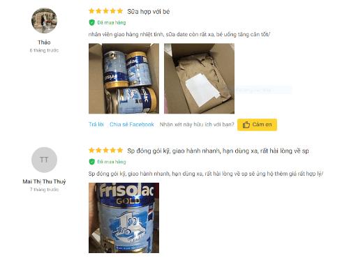 Người dùng đánh giá cao về sữa Friso cho bé từ 0 đến 6 tháng tuổi