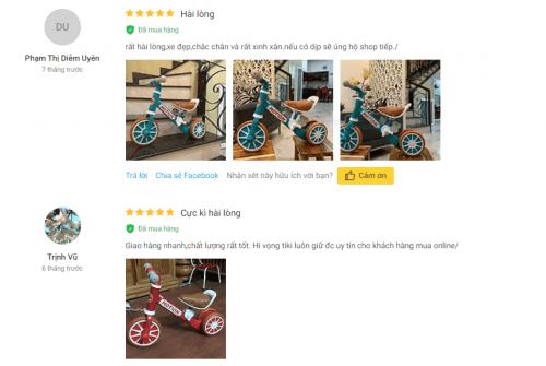 Người dùng đánh giá cao về loại xe chòi chân tự động giữ thăng bằng cho bé 1 tuổi