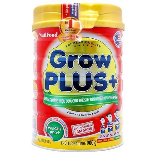 Sữa NutiFood Grow Plus+ dành cho bé suy dinh dưỡng