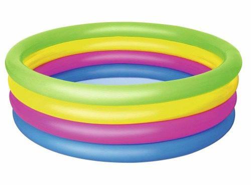 Mẫu bể bơi phao 4 tầng màu cầu vồng Bestway