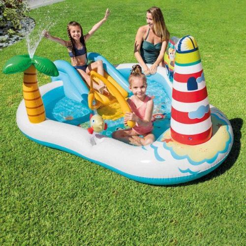 Bể bơi phao Intex có cầu trượt