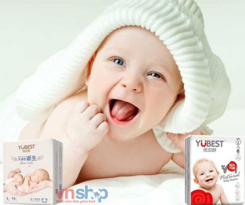 Bỉm Yubest nội địa Trung cực kì an toàn với làn da nhạy cảm của các bé