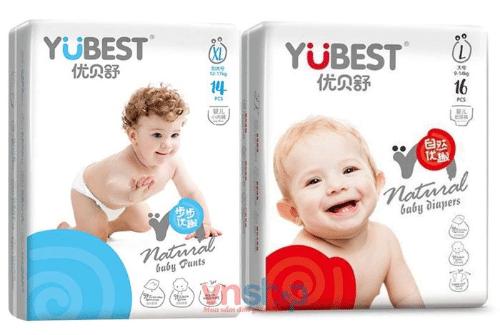 Bỉm cho trẻ sơ sinh Yubest được đầu tư từ mẫu mã bao bì cho tới thiết kế và chất lượng sản phẩm
