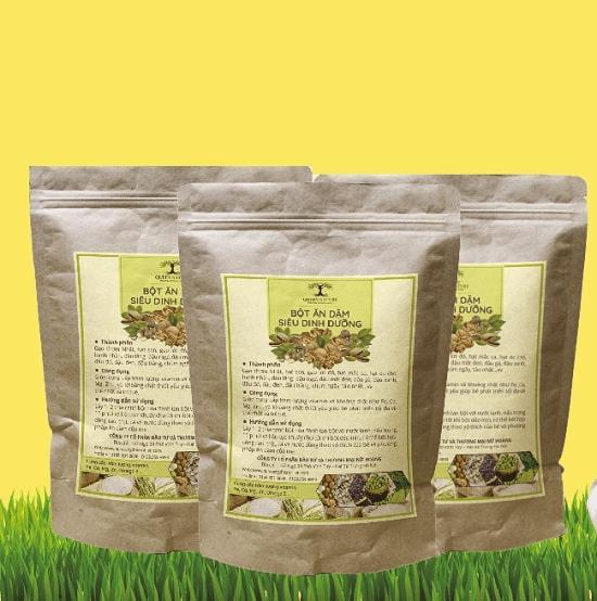 Bột ăn dặm thương hiệu Queen Nature chứa nhiều loại hạt giàu giá trị dinh dưỡng