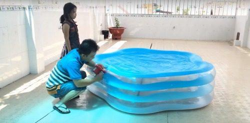 Cách dán (vá) bể bơi phao