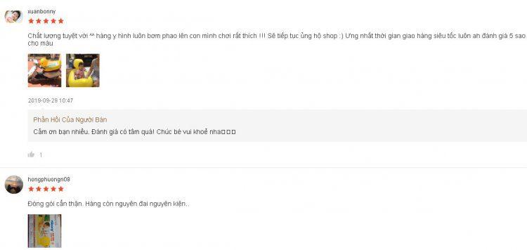 Những nhận xét của khách hàng về sản phẩm trên Shopee.vn