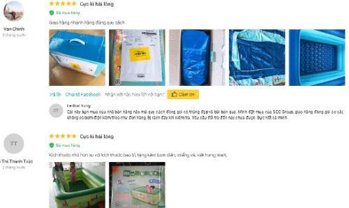 Những đánh giá tích cực của sản phẩm trên Tiki.vn