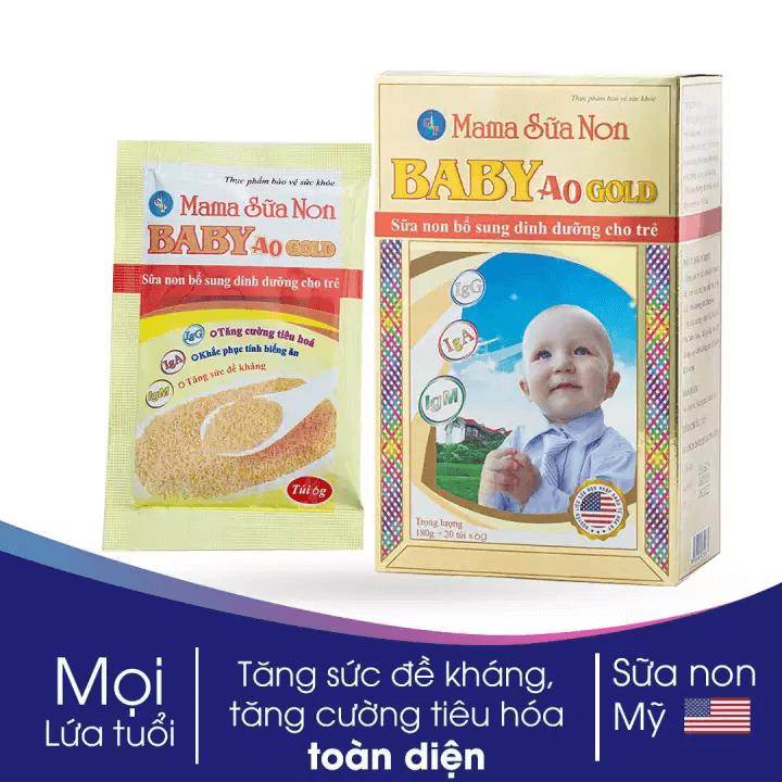 Sữa non Mama chứa thành phần Colostrum có nguồn gốc từ Mỹ