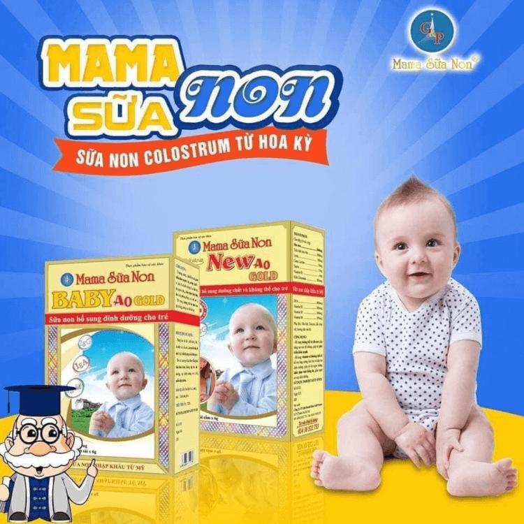 Mama sữa non giúp trẻ phát triển toàn diện về thể chất đặc biệt là hệ tiêu hóa và hệ miễn dịch