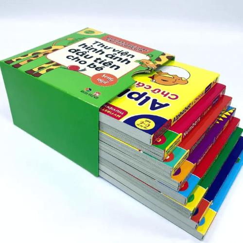 Thư viện hình ảnh cho bé được tập hợp dưới dạng các tập sách riêng biệt
