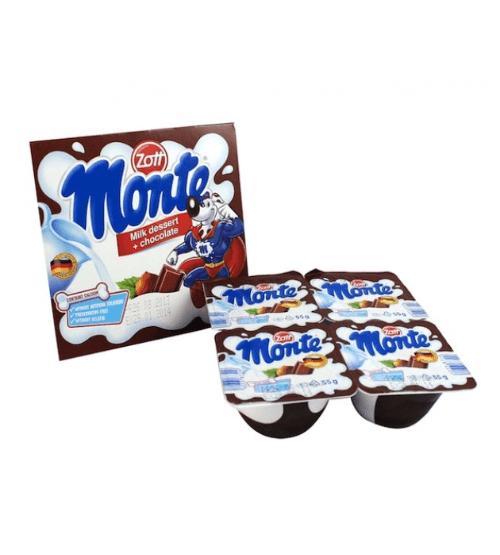 Cha mẹ có thể lựa chọn váng sữa vị chocolate hoặc vị trái cây để kích thích vị giác của trẻ