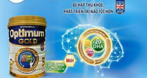 Optimum Gold giúp bé phát triển não bộ
