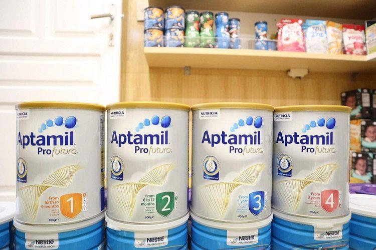 Aptamil Úc có 4 số khác nhau