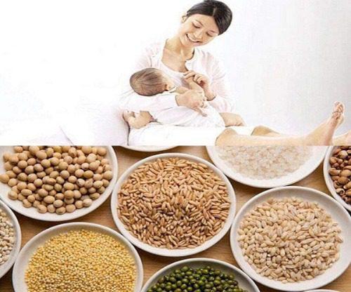 Ngũ cốc cho mẹ sau sinh nên chứa nhiều chất xơ, chất béo, chất đạm