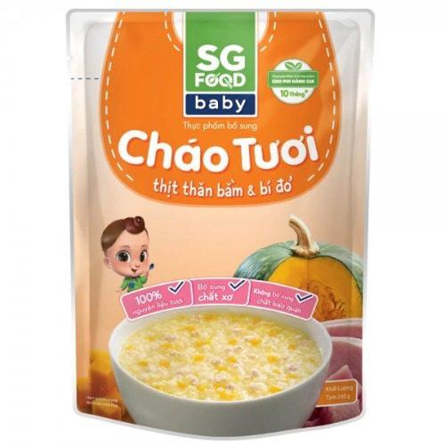 Cháo tươi SG Food không chứa hạt nêm và bột ngọt hóa học